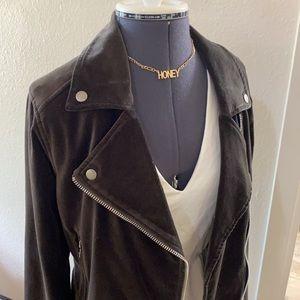 SALE! PAIGE Velvet Moto Jacket Small 🤩
